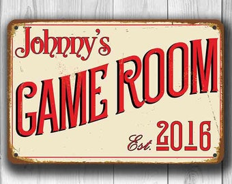 GAME ROOM SIGN, Customizable Game Room, Vintage style Game Room, Customizable Signs, Game Room Signs, Custom Game Room sign, Game Room Decor
