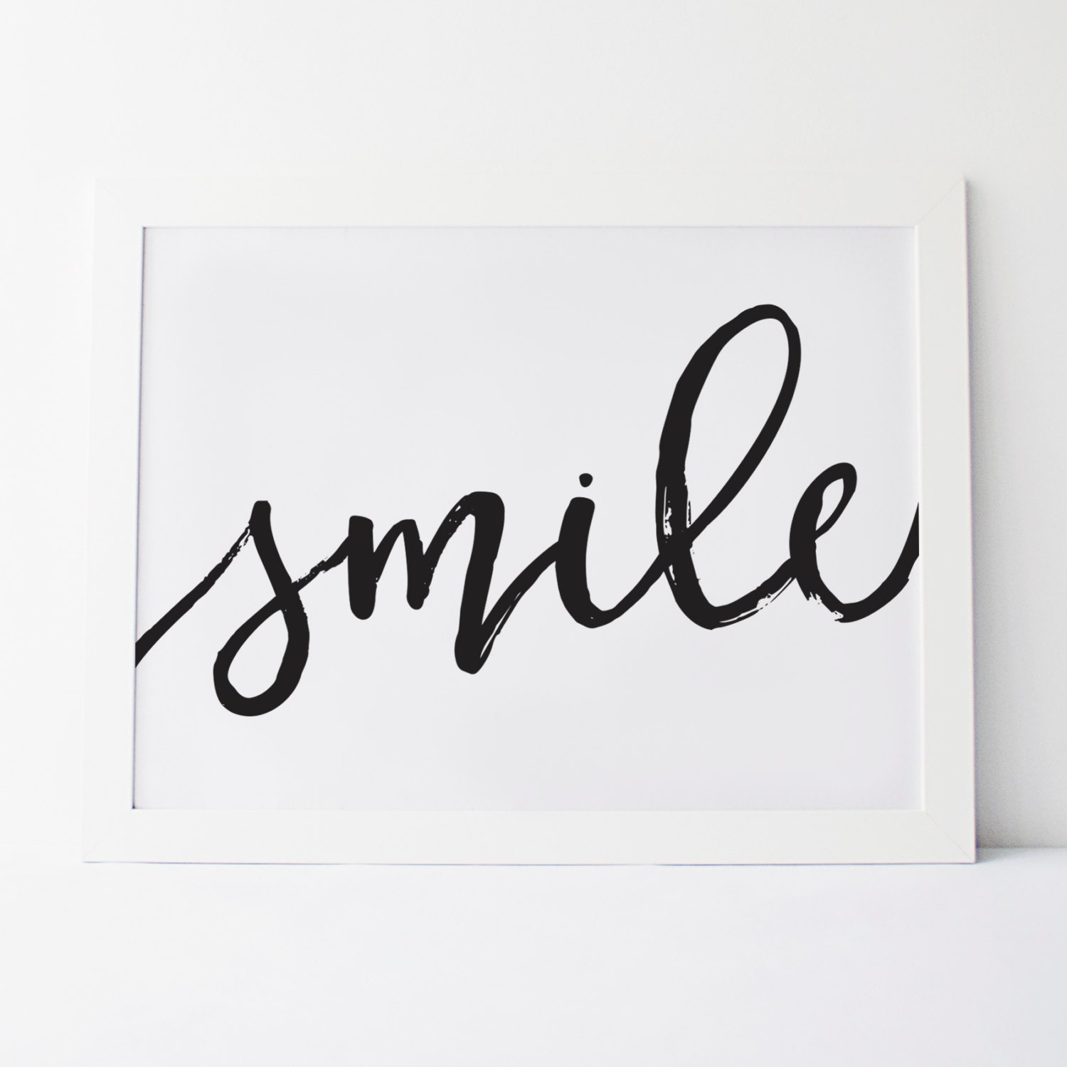 Quotes About Smiles Printable Art Smile Cursive Smile Wall Art Wall