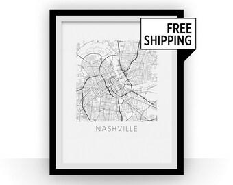 Nashville Map Print
