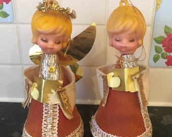 Vintage Kitschmas Angel Choir Girl Decorations
