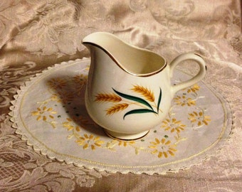 Vintage Creamer, Wheat Pattern Creamer, China Creamer, Creamer  Wheat Pattern