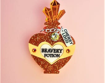 Bravery potion brooch