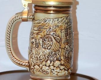 Vintage Avon 1987 The Gold Rush Stein