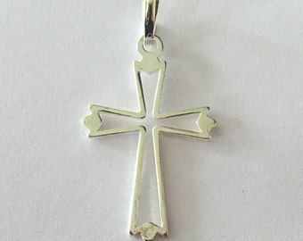 Cross Pendant ~ Solid Sterling Silver Cross ~ Botonnee Style Cross ~ Christian Pendant for a Necklace ~ Religious Pendant
