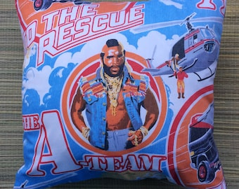 The A-Team Mr T Vintage Fabric Cushion Selection - handmade by Alien Couture
