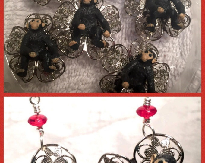 Year of the monkey jewelry,monkey business,good luck monkey charm, chinese new year jewelry, for monkey lovers, Little Monkey,wizard of Oz,