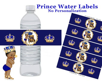 Royal Prince Water label, Royal blue prince water label, Royal Prince baby shower, Royal Prince birthday party, Prince party water label