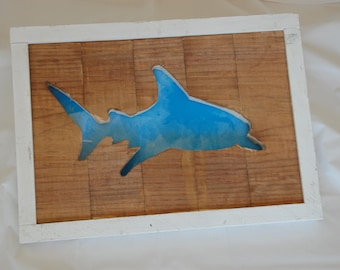 Shark Framed Cutout Wall Art