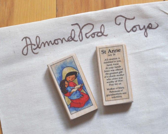 St Anne Patron Saint Block // 100+ Catholic Saints to choose from // Catholic girl // patron of grandmothers