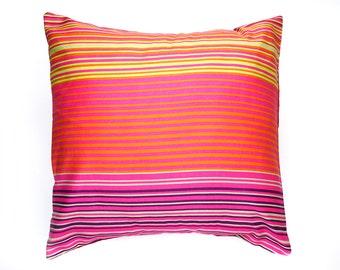 Decorative pillow, cushion cover, graphic print cushion, throw pillow, pillow cover, striped fabric pillow, home decor pillow, stripes