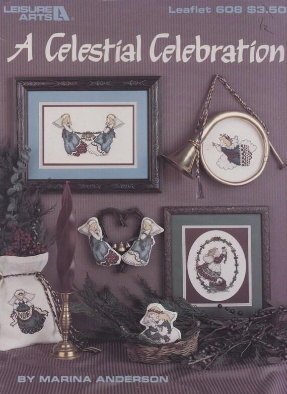Una fiesta Celestial ocio artes Navidad Ángeles punto de cruz
