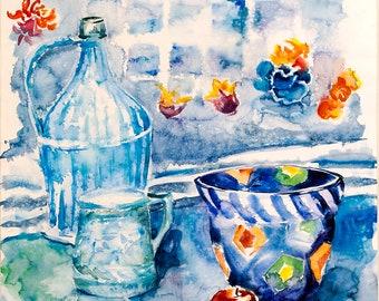 Blue naturemorte