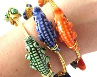 UF Florida Gator Bangle Bracelet - Gator Bracelet - Florida Gator Jewelry