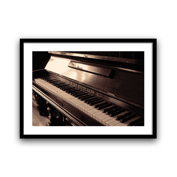 Music Lover Gift, Piano Teacher Gift, Music Teacher Gift, Piano Print, Music Lover, Pianist Gift Ideas, Music Room, Music Wall Art