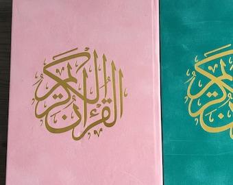 Large velvet quran | Arabic Quran | Muslim gift | Ramadan gift | Muslim Gift | velvet Quran | Color Quran
