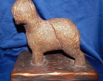 "Antique Sheepdog Sculpture Statue Signed ""Rafa'al, Rafe'al, Rafa'ol"" ""1915 or 1925"""