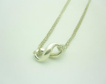 """Tiffany & Co. Sterling Silver Infinity Pendant Necklace 15"""""""