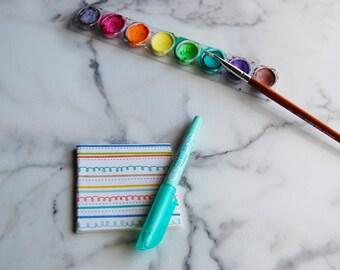Hand-bound mini sketchbooks: Set of 3