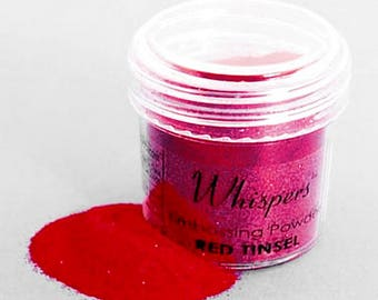 Whispers Embossing Powder - Red Tinsel - 1 Oz