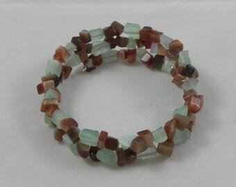 Cat's Eye memory wire bracelet