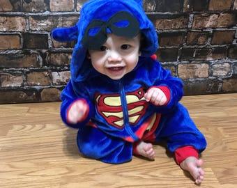 Baby Halloween costume, baby superhero costume, baby costume , baby superman