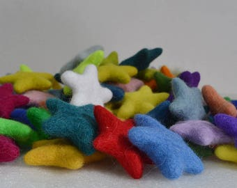 Felt star, felted star, wool star, handmade felt star, free shipping
