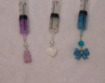 Custom Kawaii Syringe Necklace