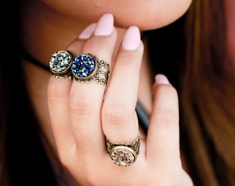 Womens Gypsy Rings - Adjustable Midi Rings - Above Knuckle Rings - Christmas Gift For Her Under 20 -Stocking Stuffer For Women - Top Finger