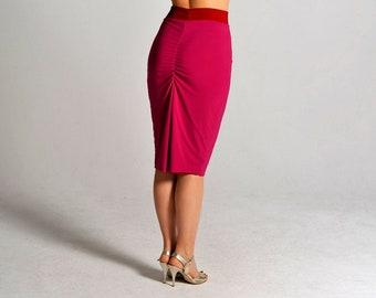 CLARA reversible pink and berry skirt, XS-M