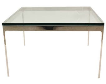 Zographos Glass Top Square Side Table
