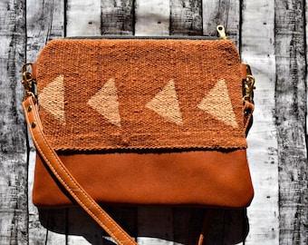 Ready to ship mudcloth crossbody, triangle mudcloth bag, mudcloth bag, boho bag, bohemian crossbody, crossbody purse, crossbody bag, textile