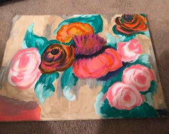 Rose floral Canvas