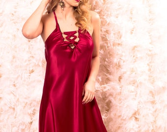 Astrild: bias cut silk slip dress in 4 colors