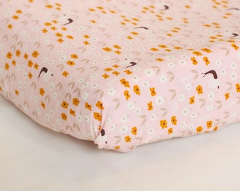 Pink Snail Organic Changing Pad - Fitted