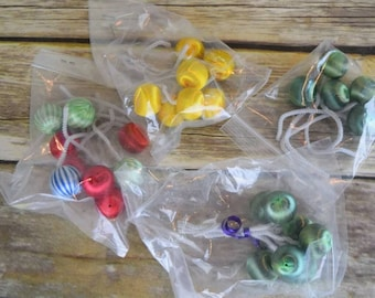 28 Vintage Satin Ball Tie-ons Christmas Package Decoration
