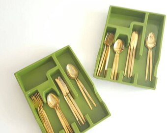 Avocado Green Flatware Organizer