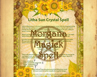 LITHA SUN CRYSTAL Spell  Sabbat Ritual Digital Download, Wicca, Book of Shadows, Ritual, Spell,Pagan, White Magick, Wicca , Witchcraft