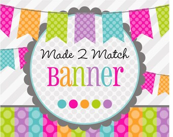 DIY Printable Name Banner- Made 2 Match Banner -Choose a Theme in Our Shop -Baby Shower -Birthday -Bridal Shower