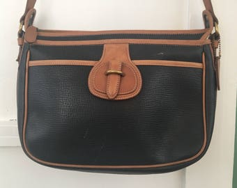 80's Coach Dakota Bag Black & Brown