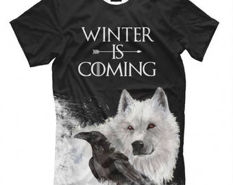 Winter is coming Game of Thrones  Full Print T-Shirt