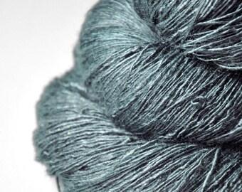 Rain in a graveyard - Tussah Silk Lace Yarn - Hand Dyed Yarn - handgefärbte Wolle - DyeForYarn