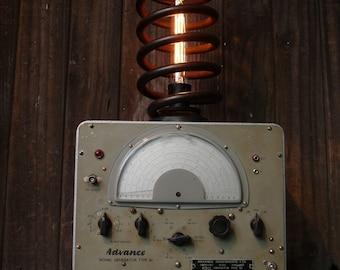 Upcycled Steampunk Generator Light