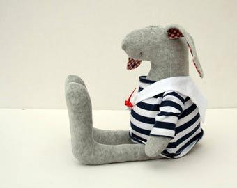 Sailor Bunny soft plush rabbit wearing patriotic sailor blouse