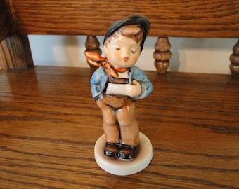 10% OFF SALE, Vintage Hummel Lucky Fellow Figurine, Goebel Germany, #560, TMK6, Club Membership Figurine