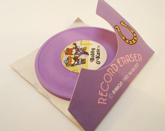 Bobby & Kate. Record Eraser in The Original Box.80s