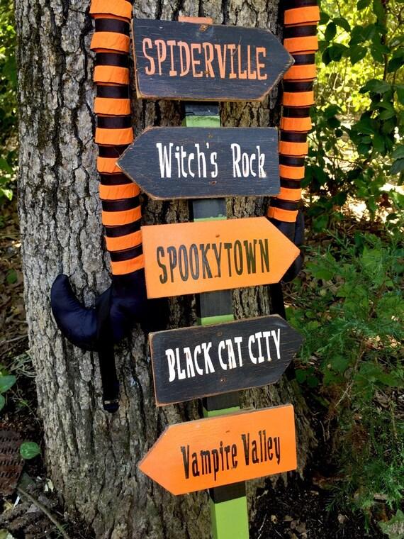 halloween sign city town outdoor indoor halloween sign yard