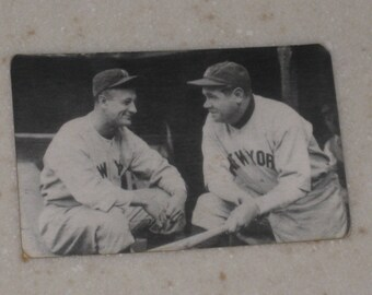 new just in babe ruth & lou gehrig red cross tobacco card