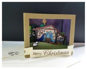 Nativity Shadowbox Card