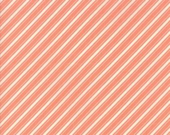 Ella & Ollie - Peach Ticking Stripe Fabric - Fig Tree and Co - Moda Fabric - Sold by Half Yard