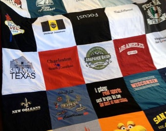 Custom T-Shirt Blanket - unlimited items and size